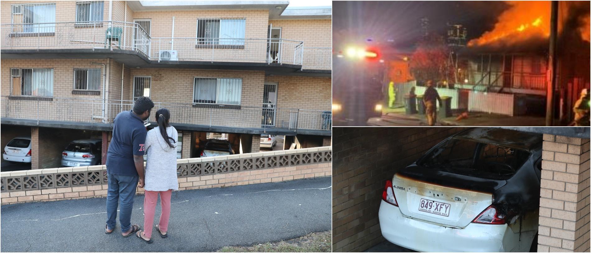 Três incêndios suspeitos em uma noite destroem casas e carros no subúrbio de Brisbane