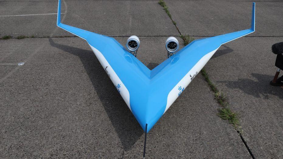 Protótipo de avião Flying-V conclui voo de teste