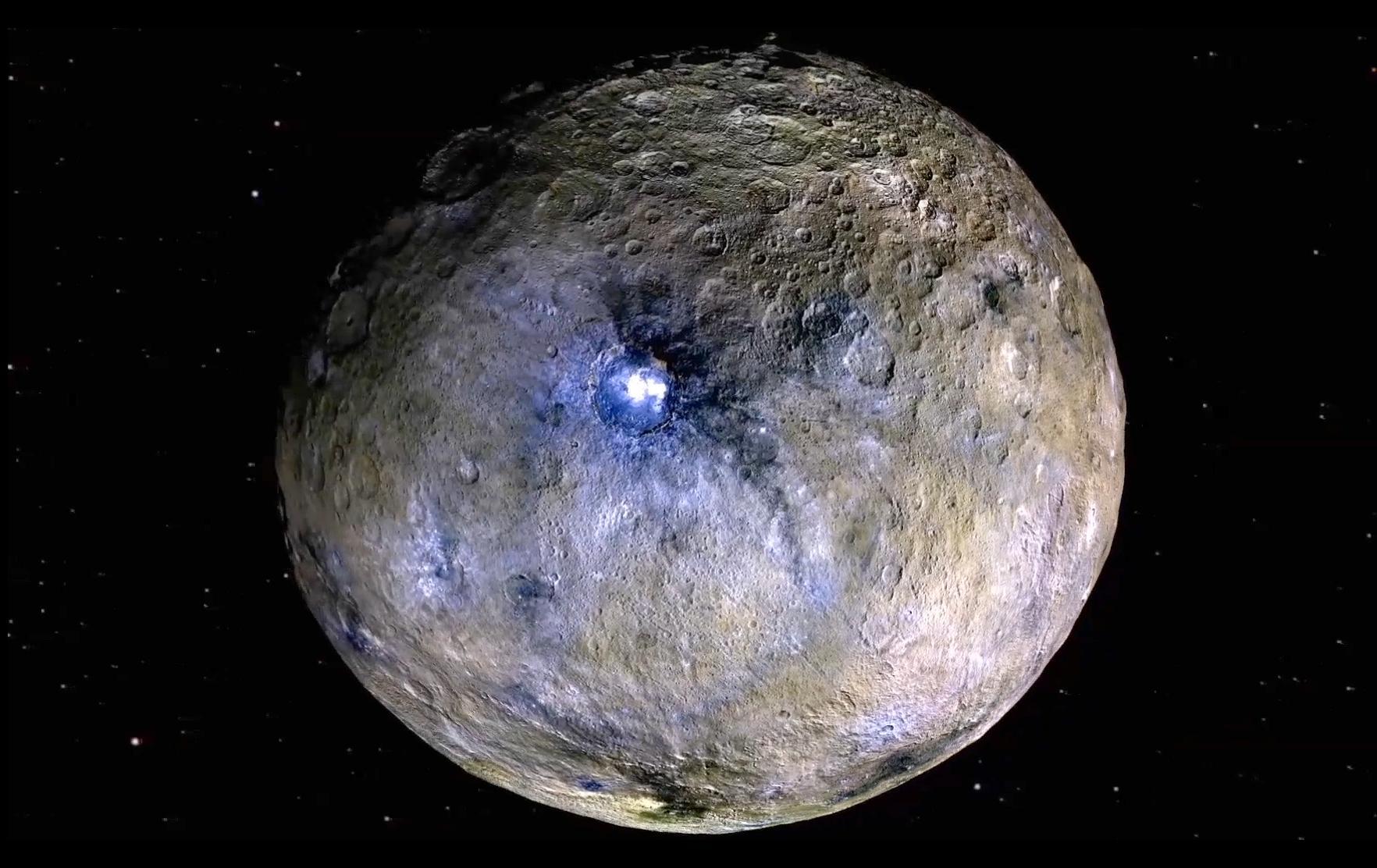 """Nova pesquisa afirma que o planeta anão Ceres é um """"mundo oceânico"""""""