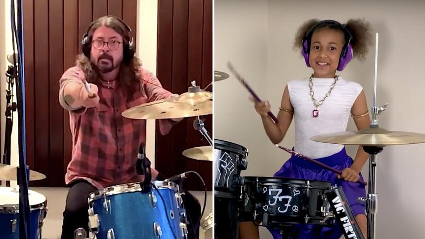 O astro Dave Grohl faz um video sensacional para a garotinha que o desafiou