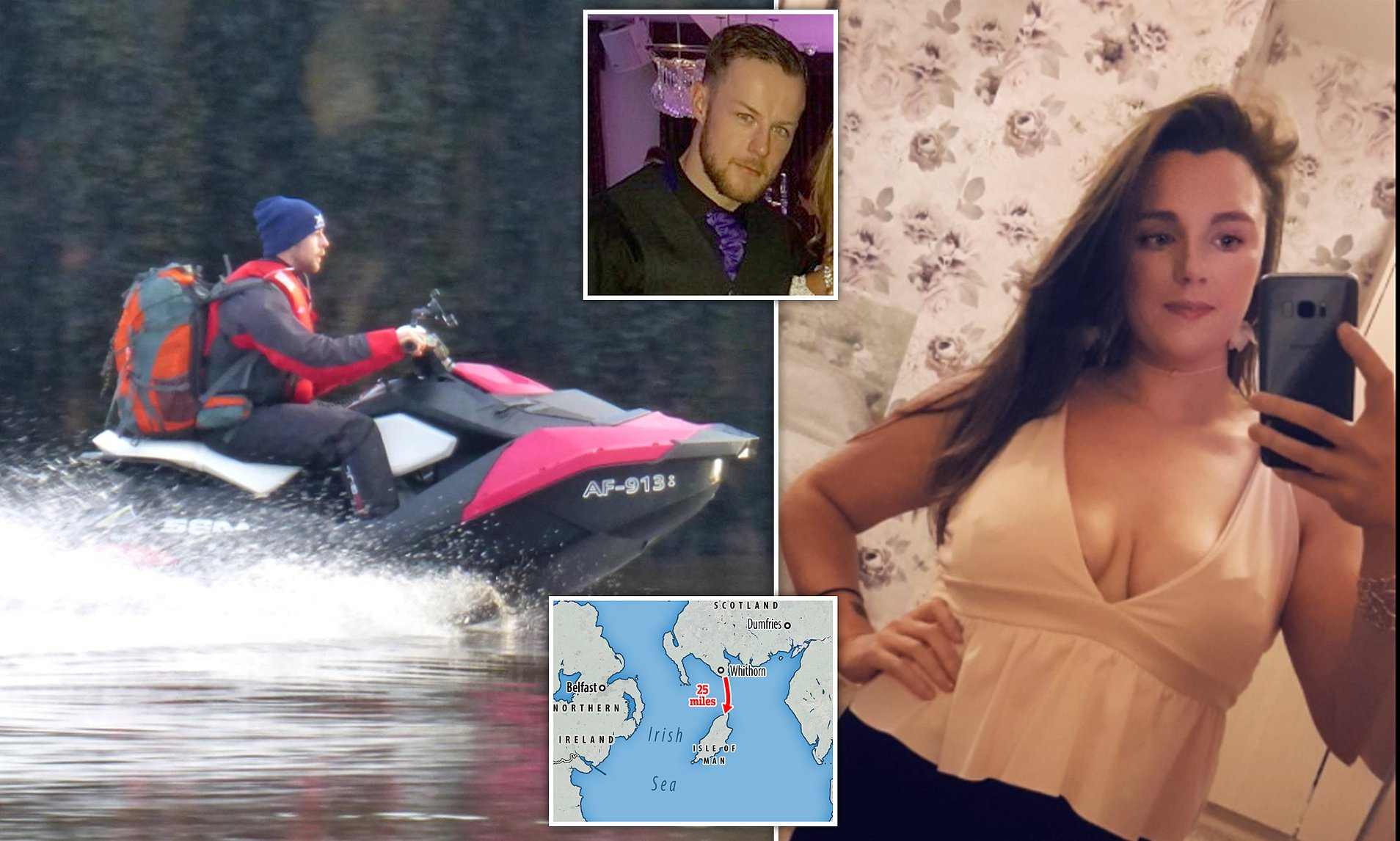 Escocês é preso após furar a quarentena ao visitar a namorada usando seu jet ski